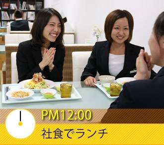 PM12:00 社食でランチ