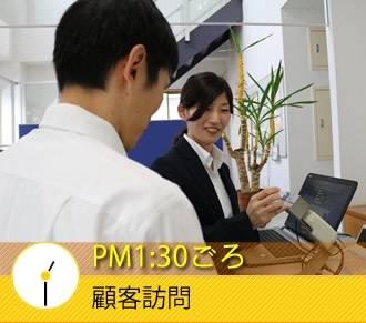 PM1:30ごろ 顧客訪問