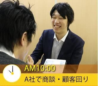 AM10:00 A社で商談・顧客回り