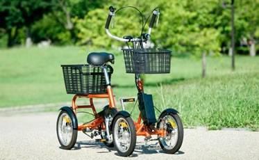 オリジナル製品。電動付き四輪自転車「けんきゃくん」
