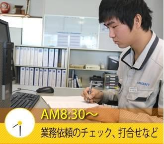 AM8:30〜 業務依頼のチェック、打合せなど