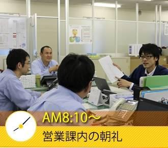 AM8:10〜 営業課内の朝礼