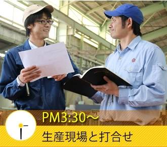PM3:30〜 生産現場と打合せ
