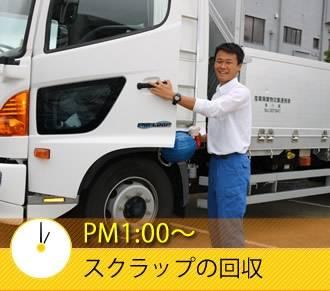 PM1:00〜 スクラップの回収