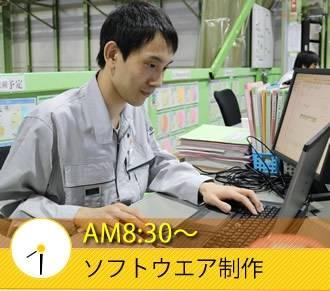 AM8:30〜 ソフトウエア制作