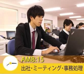 AM8:15 出社・ミーティング・事務処理