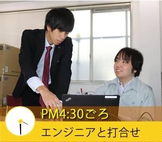 PM4:30ごろ エンジニアと打合せ