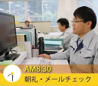 AM8:30 朝礼・メールチェック