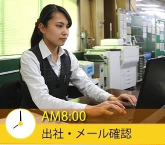 AM8:00 出社・メール確認