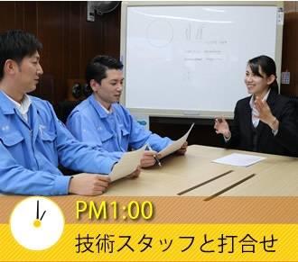 PM1:00 技術スタッフと打合せ